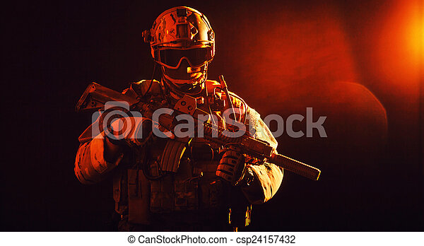 Special forces soldier - csp24157432