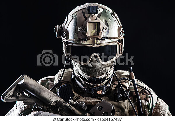 Special forces soldier - csp24157437