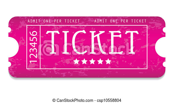 special grunge movie ticket for your website - csp10558804