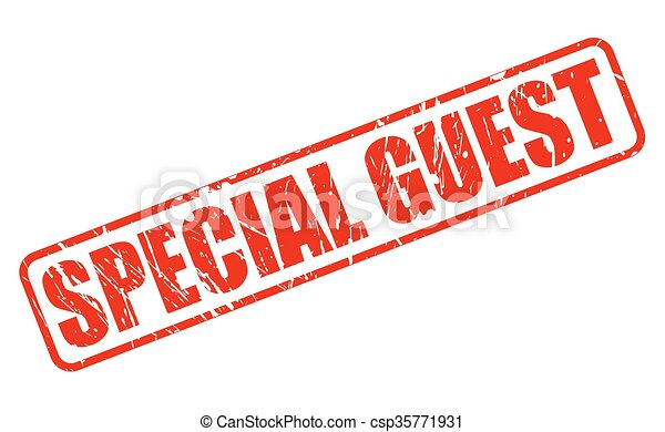SPECIAL GUEST RED STAMP TEXT - csp35771931