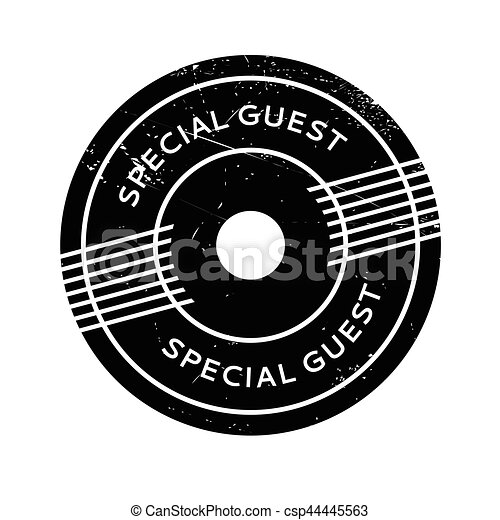 Special Guest rubber stamp - csp44445563