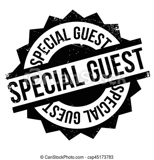 Special Guest rubber stamp - csp45173783