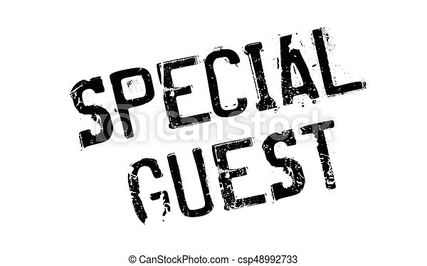 Special Guest rubber stamp - csp48992733