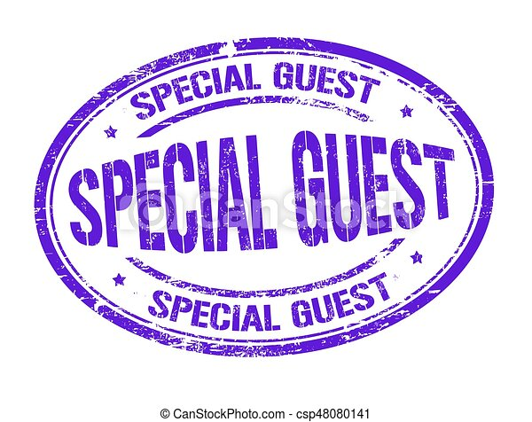 Special guest sign or stamp - csp48080141