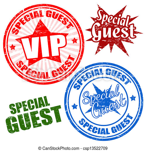 Special guest stamps - csp13522709