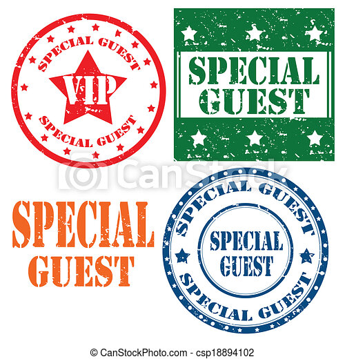 Special Guest-stamps - csp18894102
