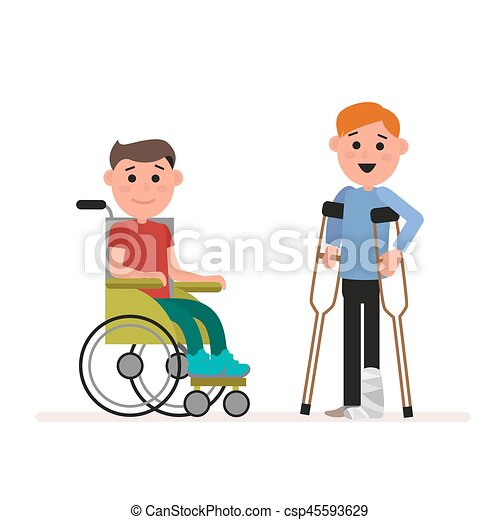 special needs children or handicapped children boy is vector rh canstockphoto com special needs clipart free special needs clipart pictures