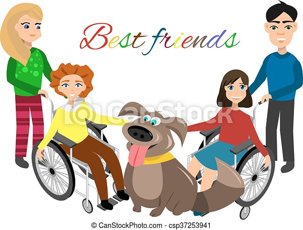 special needs children with friends friends and handicapped eps rh canstockphoto com special educational needs clipart special needs clipart pictures