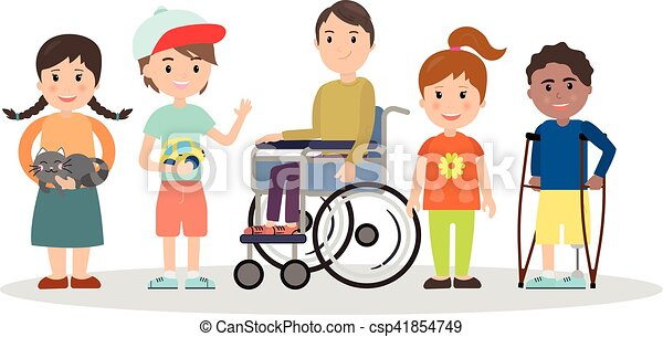 special needs children with friends friends and handicapped rh canstockphoto com special needs clipart free special needs clip art free
