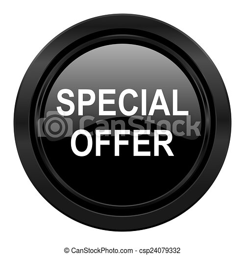 special offer black icon - csp24079332