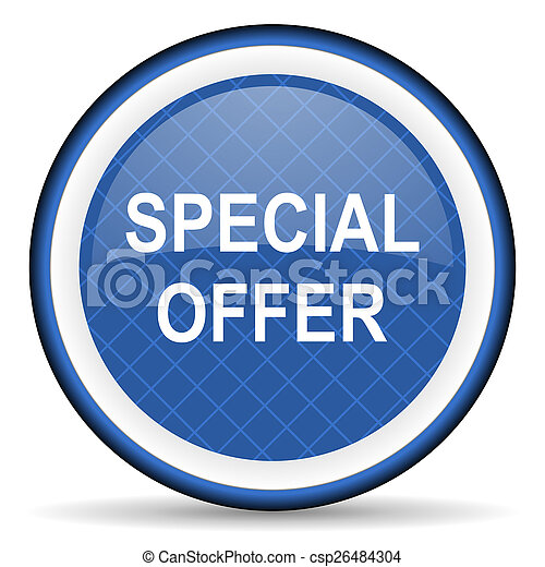 special offer blue icon - csp26484304