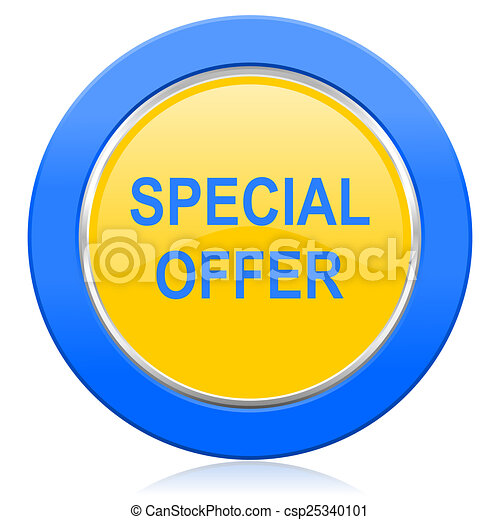 special offer blue yellow icon - csp25340101