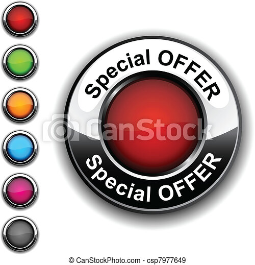 Special offer button. - csp7977649