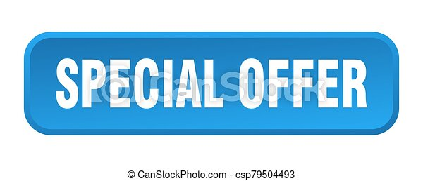 special offer button. special offer square 3d push button - csp79504493