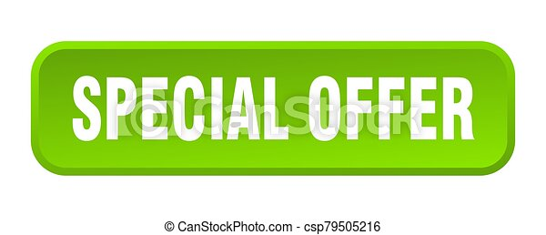 special offer button. special offer square 3d push button - csp79505216