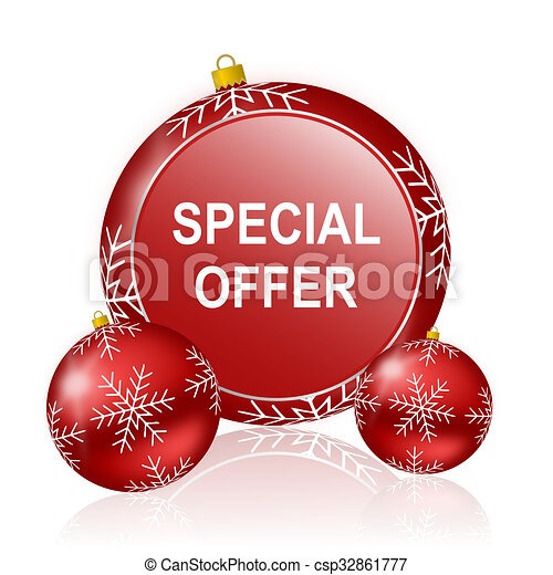 special offer christmas icon - csp32861777