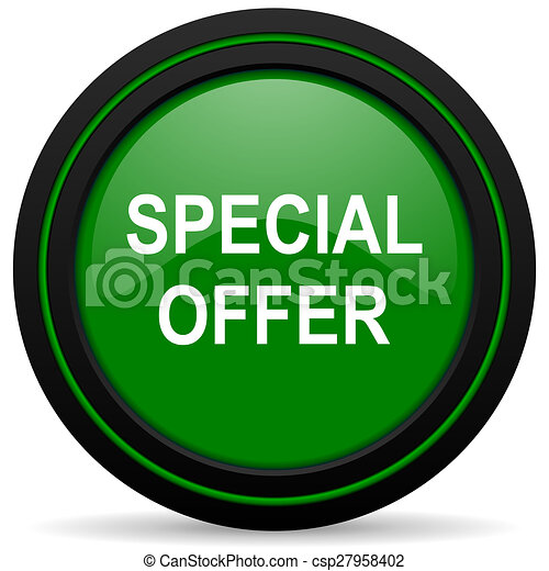 special offer green icon - csp27958402