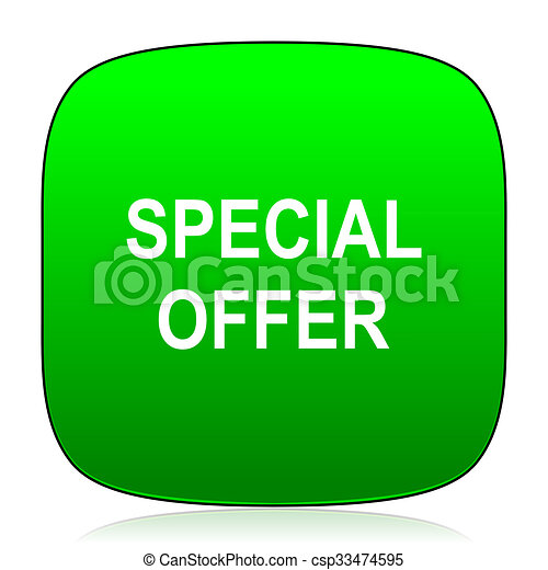 special offer green icon - csp33474595