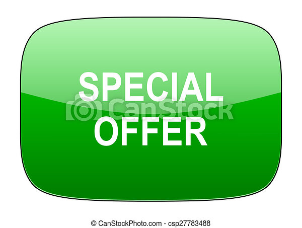 special offer green icon - csp27783488