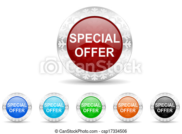 special offer icon christmas set - csp17334506