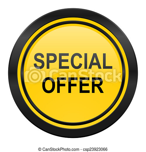 special offer icon, yellow logo, - csp23923066