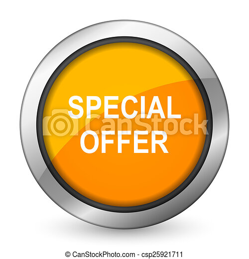 special offer orange icon - csp25921711