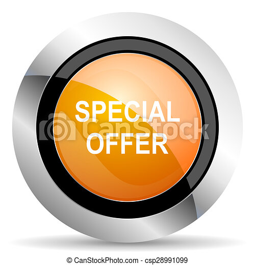 special offer orange icon - csp28991099