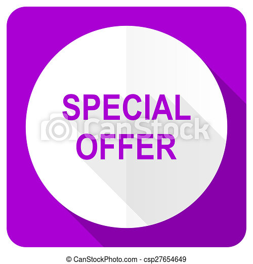 special offer pink flat icon - csp27654649