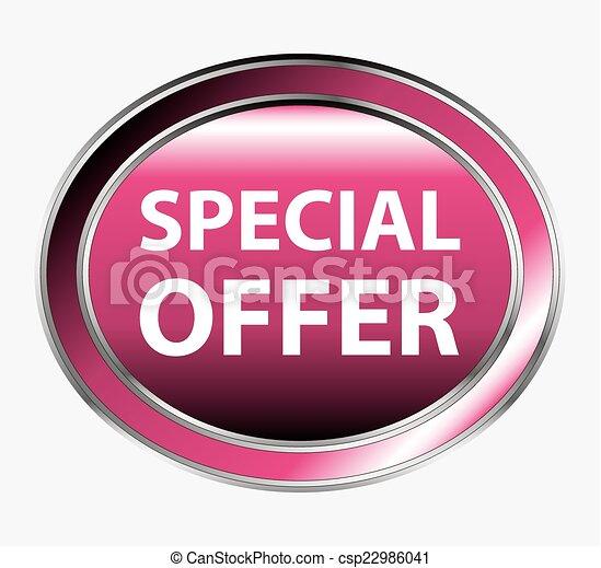 Special offer round button - csp22986041
