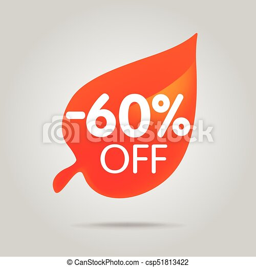 Special offer sale orange tag isolated vector illustration. - csp51813422