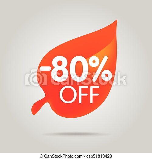 Special offer sale orange tag isolated vector illustration. - csp51813423