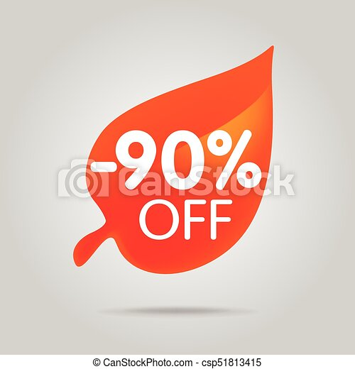 Special offer sale orange tag isolated vector illustration. - csp51813415
