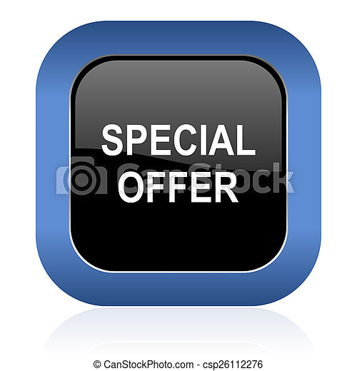 special offer square glossy icon - csp26112276