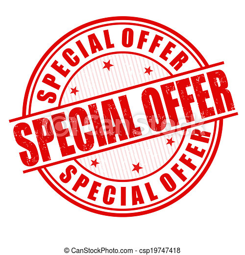 Special offer stamp - csp19747418