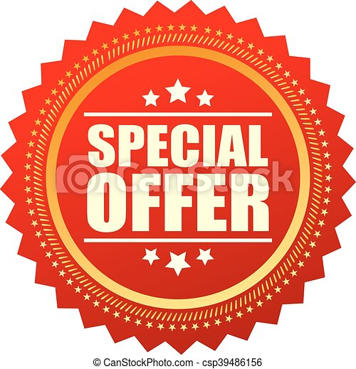 Special offer star icon - csp39486156