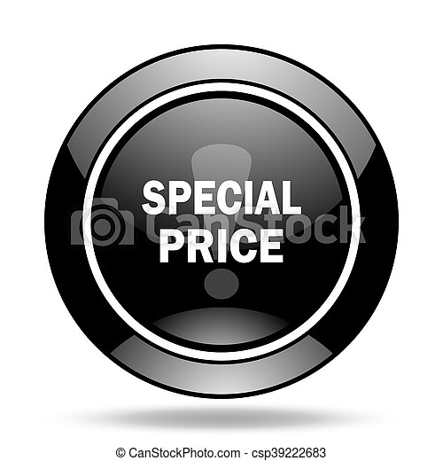 special price black glossy icon - csp39222683