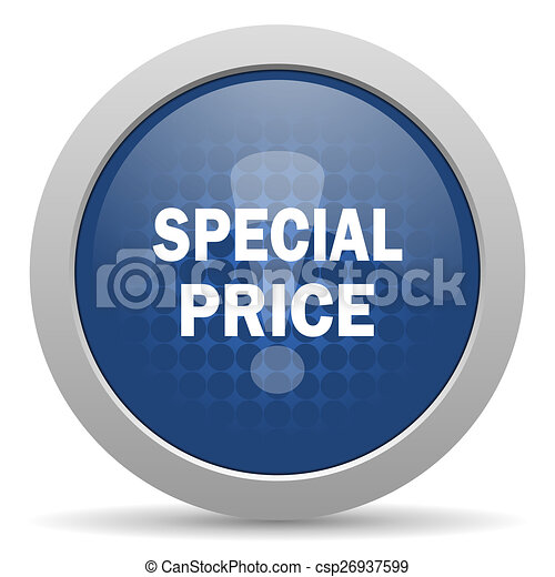 special price blue glossy web icon - csp26937599