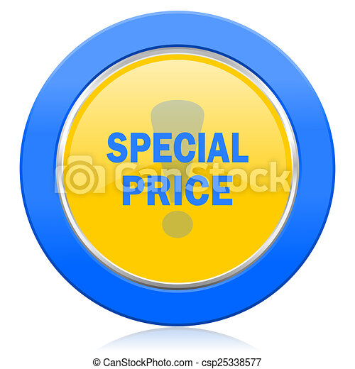 special price blue yellow icon - csp25338577