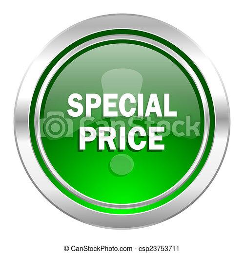 special price icon, green button - csp23753711