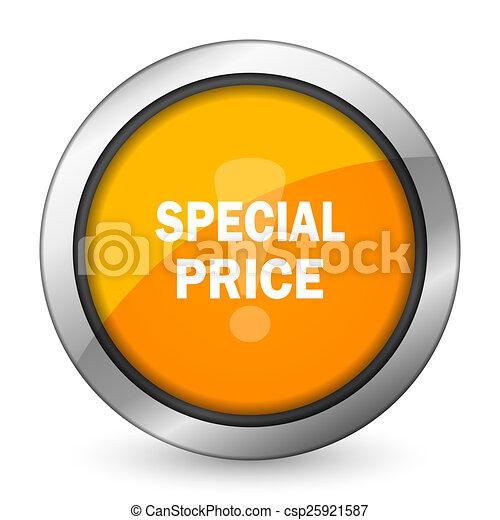 special price orange icon - csp25921587