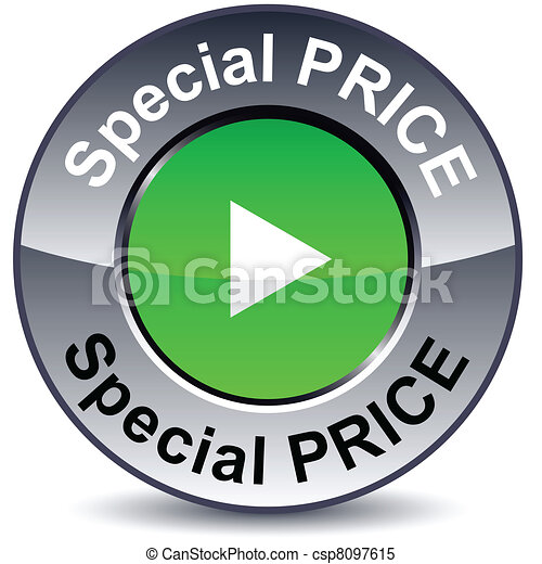 Special price round button. - csp8097615