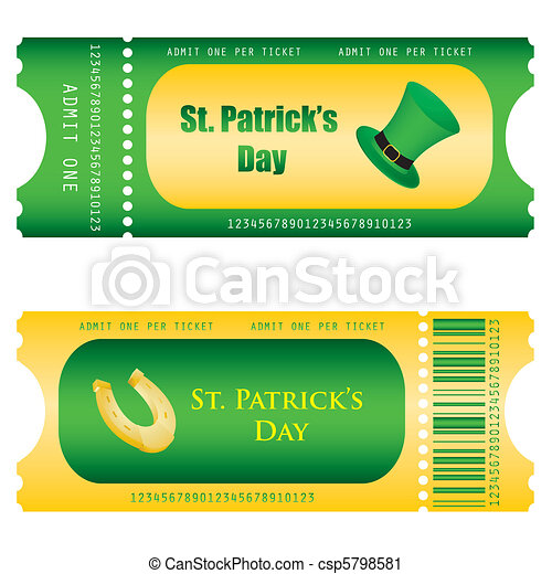 special ticket for St. Patrick's Da - csp5798581