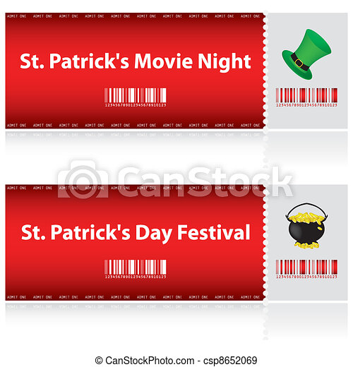 special tickets for St. Patrick's Day - csp8652069