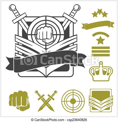 Special unit military patches - csp23640826