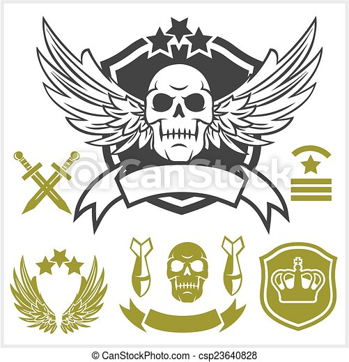 Special unit military patches - csp23640828