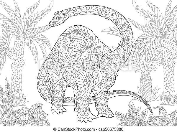 species., éteint, dinosaur., brontosaure - csp56675380