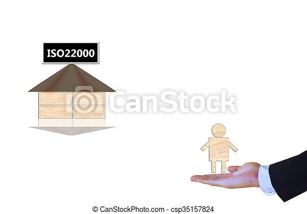specifying, ασφάλεια , iso22000, διεύθυνση , τροφή  - csp35157824