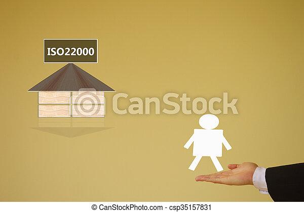 specifying, ασφάλεια , iso22000, διεύθυνση , τροφή  - csp35157831