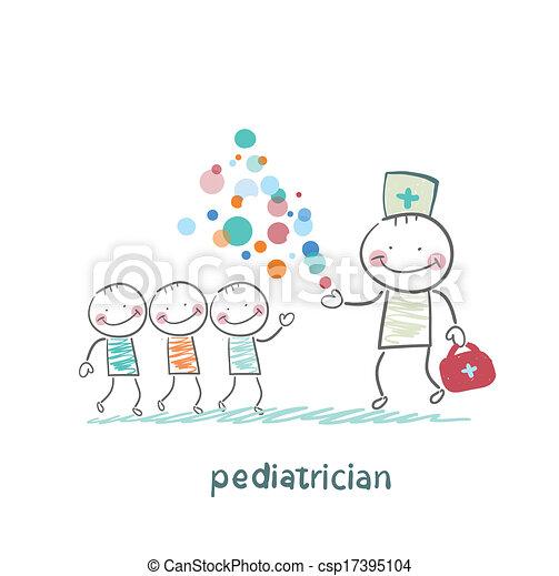 spectacles, enfants, miracle, pédiatre - csp17395104