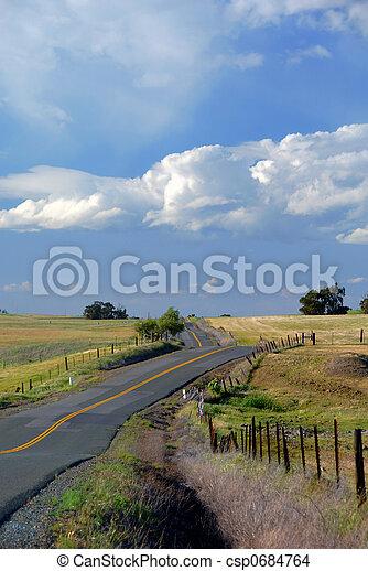 Spectacular Rural Road - csp0684764